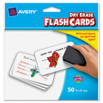 shopping online for avery write-on dry-erase flash cards  - ulettera fast shipping - sku: ave15349