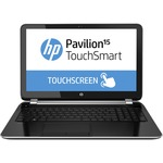 "HP Pavilion TouchSmart 15-n200 15-n230ca 15.6"" Touchscreen LED (BrightView) Notebook - Intel - Core i3 i3-4005U 1.7GHz - Sparkling Black - Anodized Silver F5W37UA#ABL"