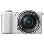 Sony alpha ILCE-5000L 20.1 Megapixel Mirrorless Camera (Body with Lens Kit) - 16 mm - 50 mm - White ILCE5000LB