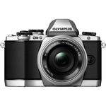 Olympus OM-D E-M10 16.1 Megapixel Mirrorless Camera (Body with Lens Kit) - 14 mm - 42 mm - Silver V207021SU000