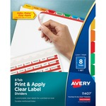find avery index maker punched clear label tab dividers - order online - sku: ave11407
