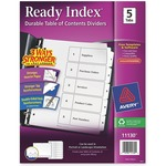 searching for avery black   white table of contents dividers  - top notch customer service - sku: ave11130