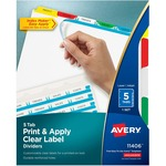 wide assortment of avery index maker punched clear label tab dividers - top rated customer service - sku: ave11406
