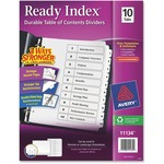large supply of avery black   white table of contents dividers - ships quickly - sku: ave11134