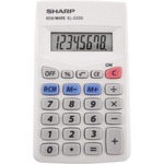 large supply of sharp 8-digit pocket calculator - quick and easy ordering - sku: shrel233sb