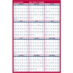 at-a-glance laminated erasable wall calendar - sku: aagpm2628 -