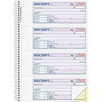 adams wirebound money rent receipt books - quick and easy ordering - sku: abfsc1182