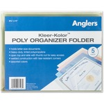 large supply of anglers kleer-kolor vinyl file folders - large variety - sku: ang22bst5