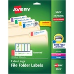 avery extra-large top tab filing labels - sku: ave5026 - us-based customer care staff