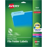 large supply of avery clear top tab filing labels - easy online ordering - sku: ave5029