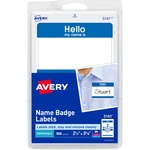 order avery red border print or write name badge labels  - professional customer service staff - sku: ave5141