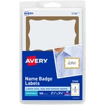 avery self-adhesive print   write name badges - outstanding customer service - sku: ave5146
