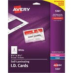 avery laminated i.d. cards - sku: ave5361 - toll-free customer care staff
