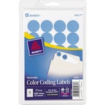 avery print or write round color-coding labels - quick shipping - sku: ave05461