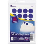 discounted pricing on avery print or write round color-coding labels - ships quickly - sku: ave05469