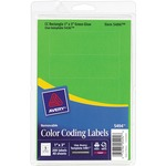 avery removable rectangular color coding labels - sku: ave05494 - quick delivery