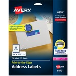 buying avery matte white laser mailing labels - fast shipping - sku: ave6870