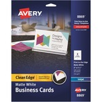 in the market for avery clean edge two side inkjet business cards  - quick shipping - sku: ave8869