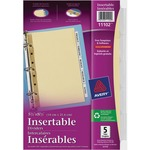 avery worksaver standard insertable tabs dividers - us-based customer care - sku: ave11102