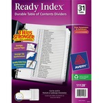 order avery black   white table of contents dividers - top notch customer service team - sku: ave11128