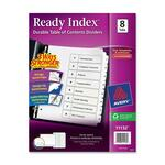 buying avery black   white table of contents dividers - fast shipping - sku: ave11132