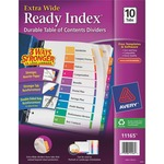 avery xtra wide multi table of contents index dividers - sku: ave11165 - new  lower pricing
