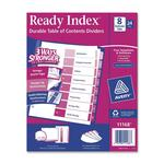 buy avery multicolor uncollated ready index dividers - easy online ordering - sku: ave11168