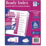 pick up avery multicolor uncollated ready index dividers - new  lower prices - sku: ave11169