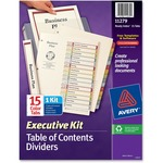 reduced prices on avery ready index executive index divider kits - excellent customer service - sku: ave11279