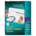 avery prepunched index maker dividers w  tabs - you pay no shipping - sku: ave11446