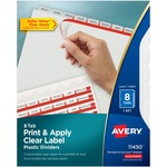 buy avery clear tab translucent plastic dividers - huge selection