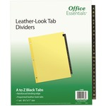 buy avery a-z leather-look tab dividers - top rated customer care - sku: ave11483