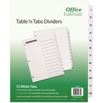 shopping online for avery black-and white table of cont. tab dividers  - shop with us and save money - sku: ave11672