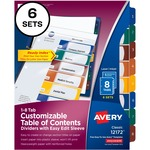 purchase avery ready index edit table of contents dividers - great prices - sku: ave12172