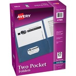 avery 2-pocket folders w o fasteners - sku: ave47985 - discounted prices