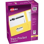 avery 2-pocket folders w o fasteners - easy online ordering - sku: ave47992