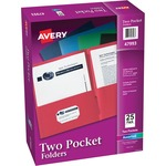 buy avery 2-pocket folders w o fasteners - us-based customer service staff - sku: ave47993