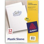 avery lightweight plastic sleeves - sku: ave72311 - quick delivery