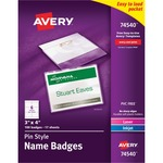 avery laser inkjet pin style name badge kits - sku: ave74540 - us-based customer support team