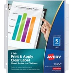 trying to find avery index maker clear pocket view dividers  - discount pricing - sku: ave75500