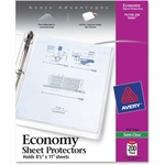 large supply of avery heavyweight top loading sheet protectors - fast shipping - sku: ave76002