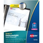 shop for avery snap-in top loading sheet protectors - super fast shipping - sku: ave78706