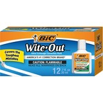 large supply of bic extra coverage wite-out brand correction fluid - professional customer care team - sku: bicwofec12we