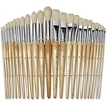 chenille kraft round wood paint brush set - fast shipping - sku: ckc5172
