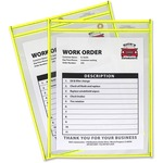 c-line neon colored stitched shop ticket holders - sku: cli43916 - reduced pricing