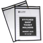 discounted pricing on c-line stitched vinyl shop ticket holders - great selection - sku: cli46114