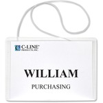 shop for c-line hanging style name badge holders - fast shipping - sku: cli96043