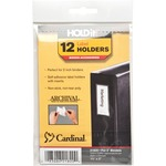 large variety of cardinal holdit! self-adhesive label holders - toll-free customer support - sku: crd21820