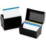large supply of esselte plastic index card boxes w  lids - super fast shipping - sku: ess01581