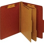 buy globe weis letter classification folders w dividers - rapid shipping - sku: glwpu61red